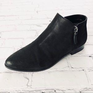 Franco Sarto Kingston Nubuck Leather Black Booties
